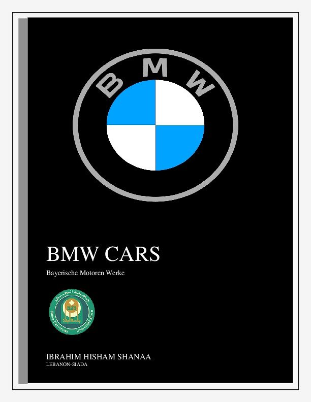 Office Word about BMW cars