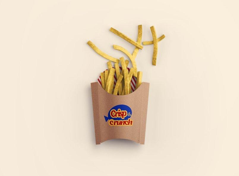 هوية لمطعم Crisp & Crunch