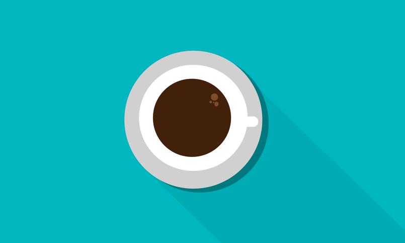 فنجان قهوة فلات ارت باستخدام برنامج اليستريتور