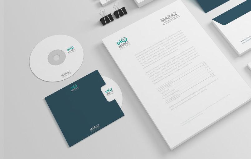 logo design marizتصميم هوية مأرز نموذج 2
