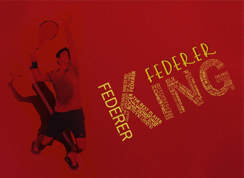 1 - Roger Federer Typography