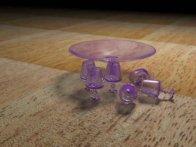 glass cubs أوعية زجاجية