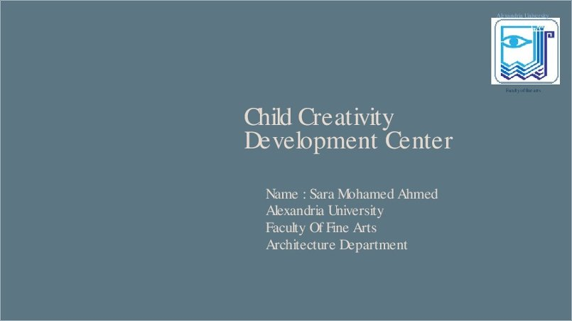 graduation project , child creativity development center