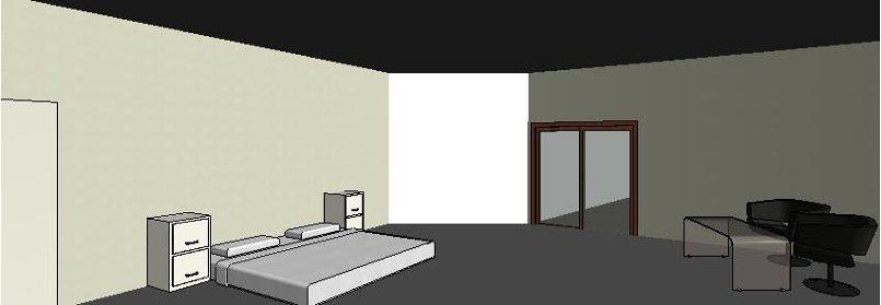 حجرة نوم بفندق على برنامج الريفت المعمارى
