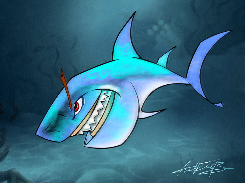 Shark Art Work ( Digital Paints)