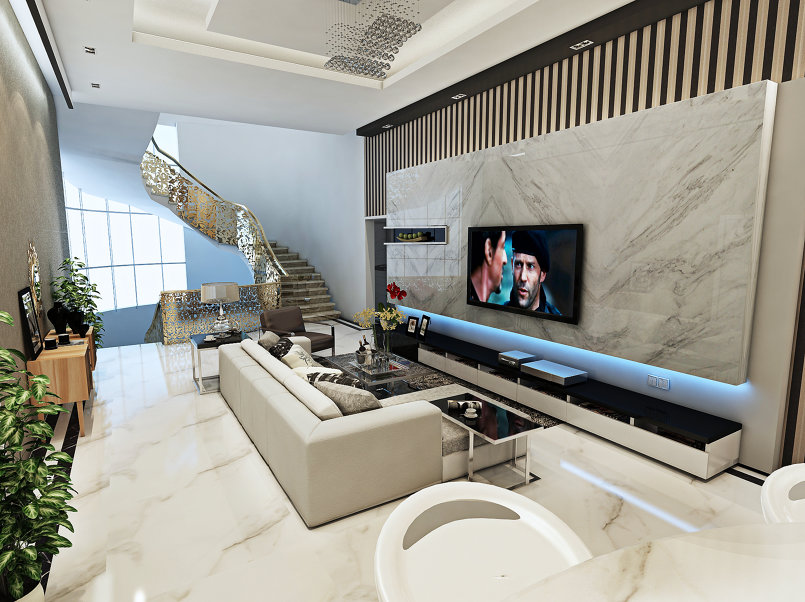 Design hall in a villa in Emirates