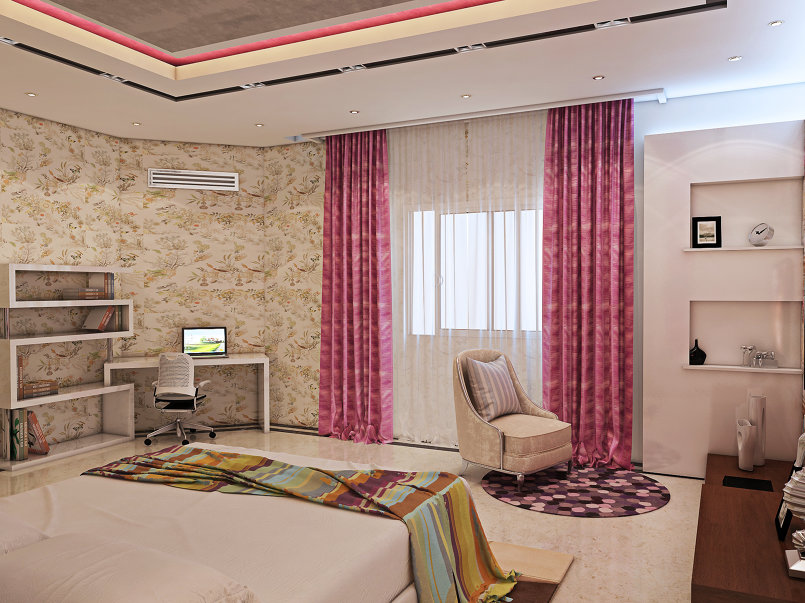 Modern girl room