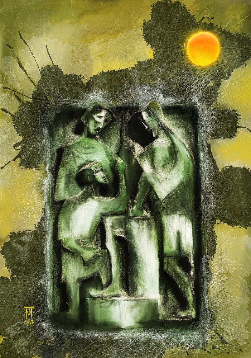 Digital Art  Sagrada Familia 35 x 60