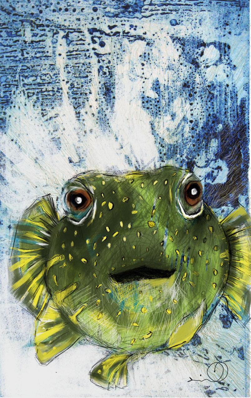 Digital art  fishrog  40 x 70