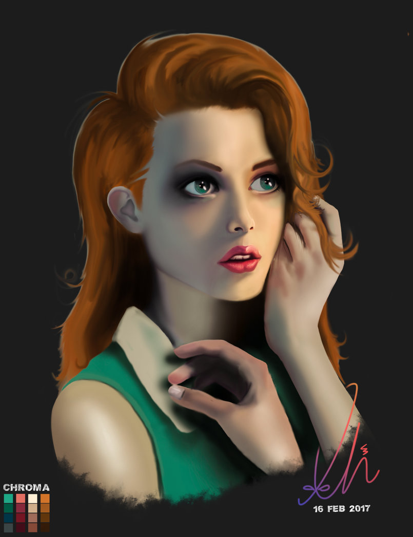 Digital Painting of a female character