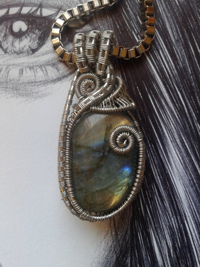 Handmade wire wrapped gems & crystals