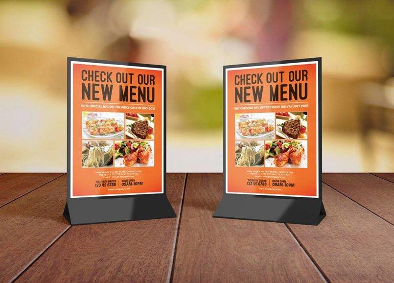 menu et affiche des restaurants