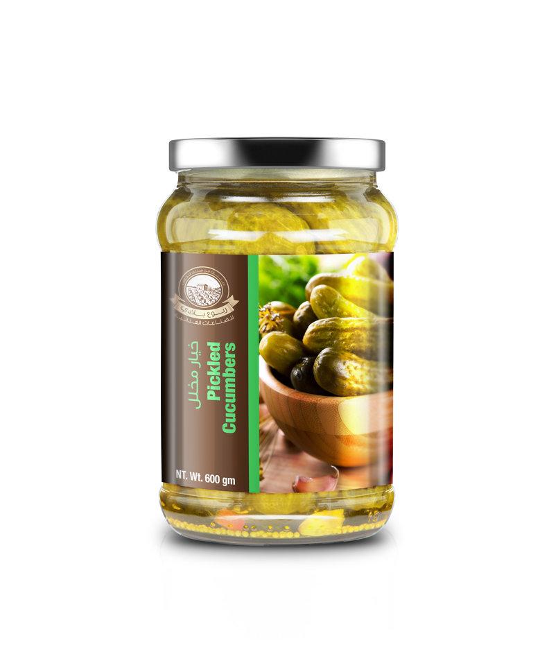 Pickles Jar Label Design