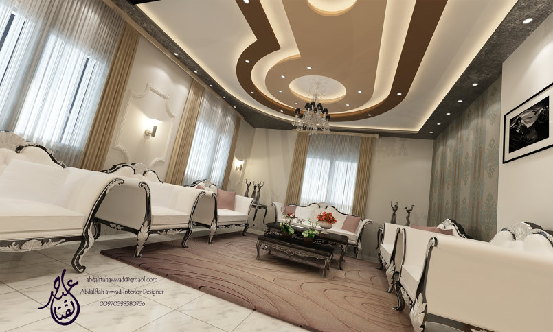 Internal guest lounge design