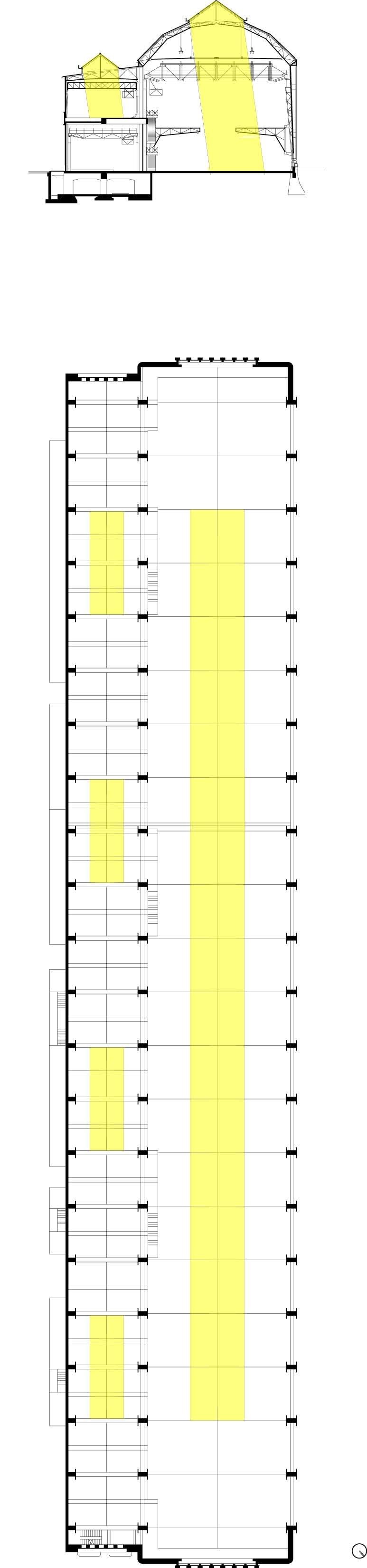 Direct Natural Light and Skylight Placement Diagrams