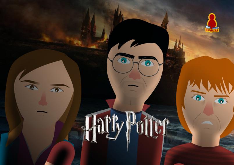 Harry potter .. Flat design