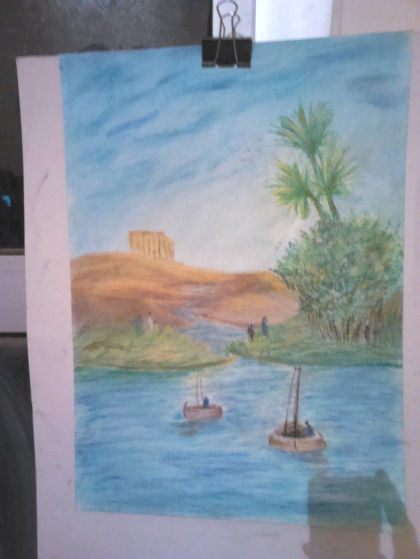 رسمه للريف المصري