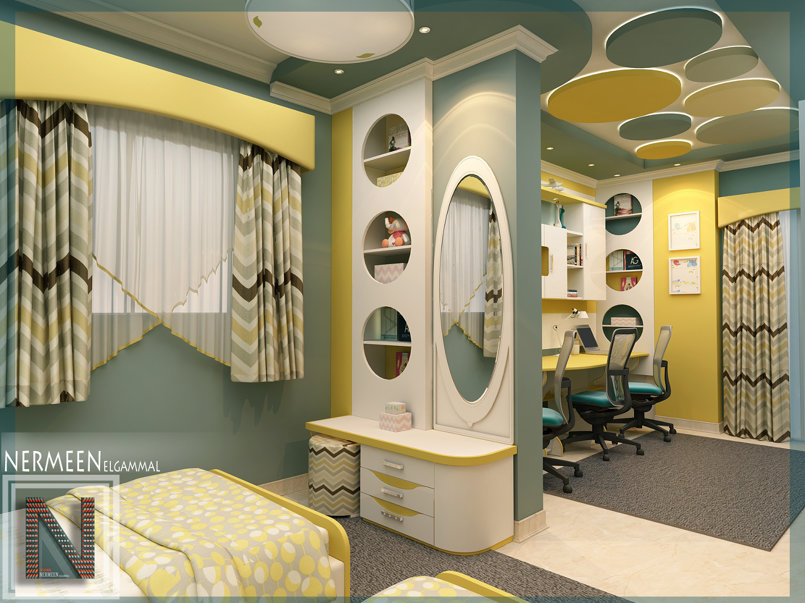 تصميم غرفة اطفال مودرن