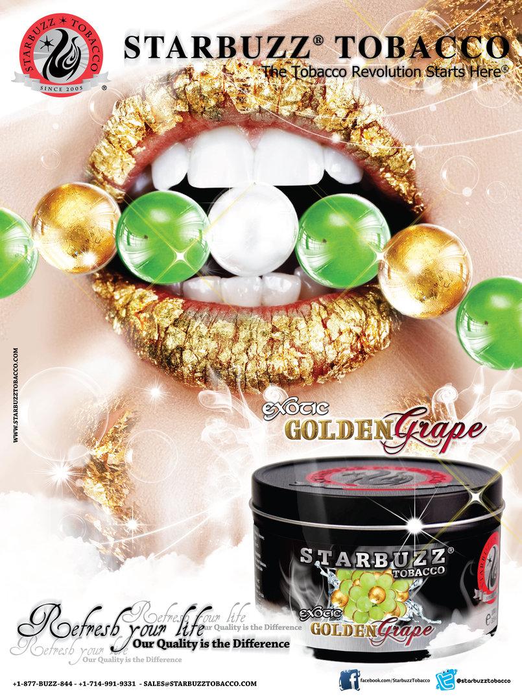 StarBuzz Tobacco Golden Grape Poster