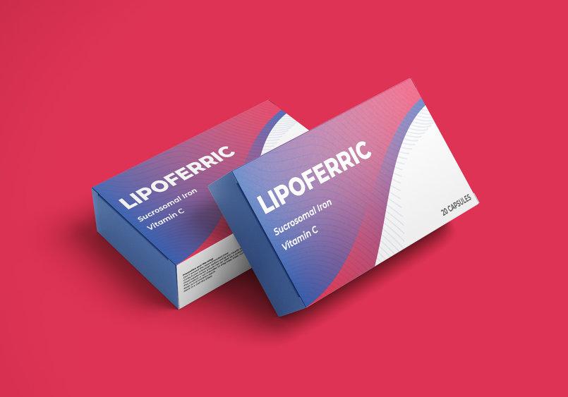 Packaging -Lipoferric Iron supplement