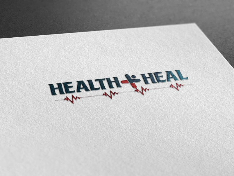 created anew logo for Health + Heal Pharmacy