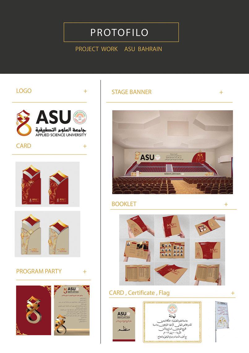 تصميم كامل لحفل تخرج جامعة العلوم التطبيقية بحرين