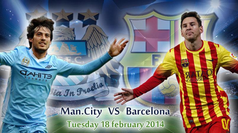 صورة إعلانية لمباراة برشلونة و مان سيتي في دوري الأبطال 2015