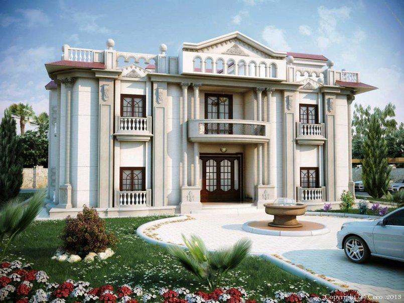 تصميم لواجهه فيلا في قطر