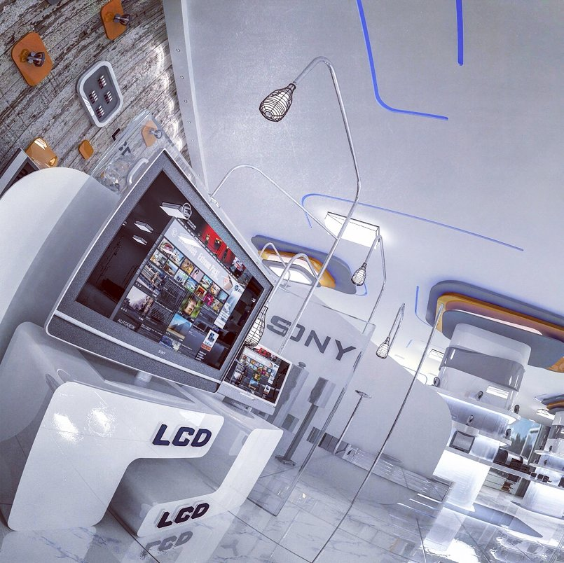 Interior design proposal for the exhibition Sony Corp