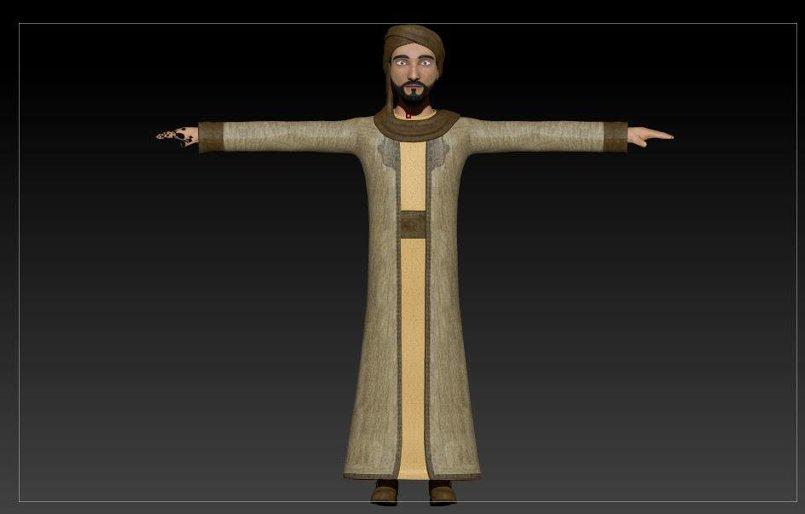 arab character 3d