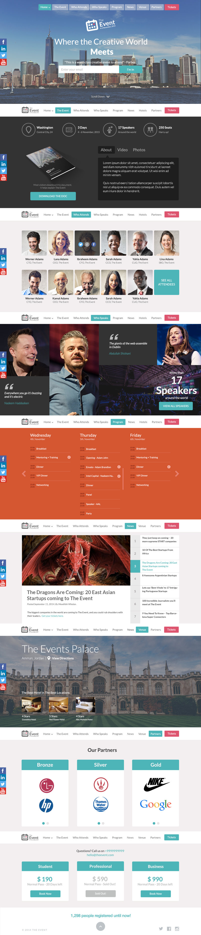 The Event PSD Template