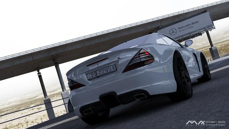 My Latest 3D Animation Work - 3D Mercedes SL65 AMG Black Series