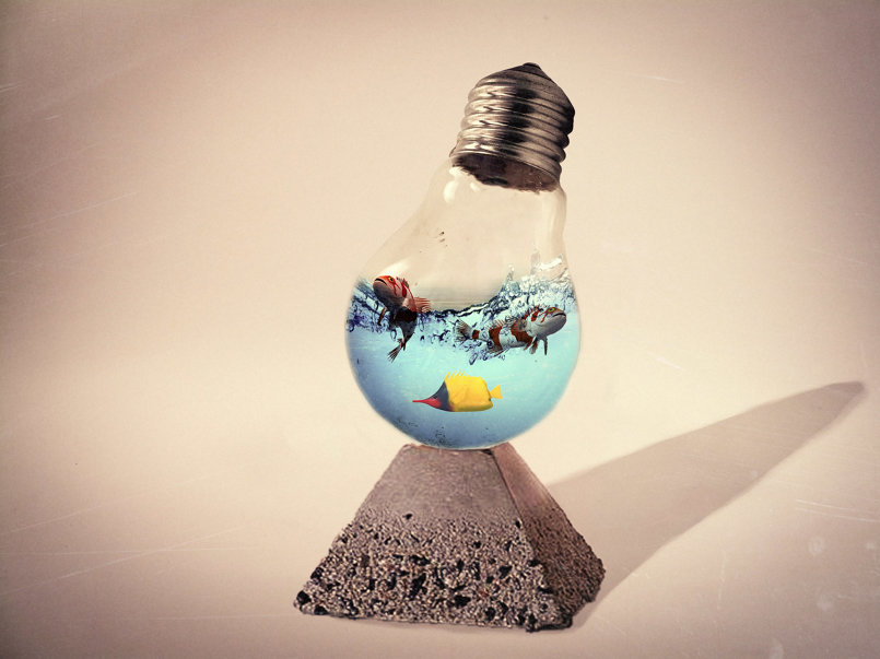 Photoshop Tutorial | Photo Manipulation | Water Splash in Bulb