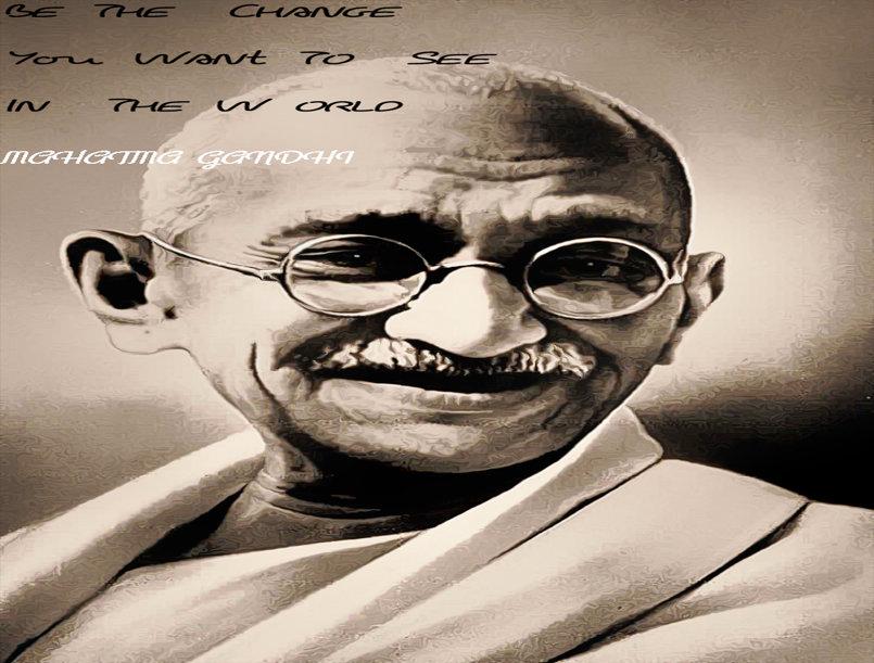 مقولة غاندي