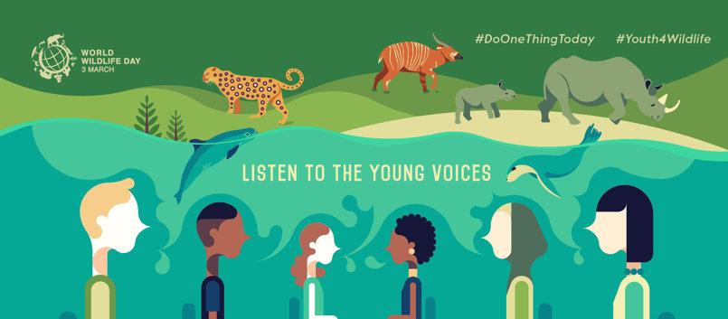 البوستر الرسمي لليوم العالمي للحياة البرية 2017
