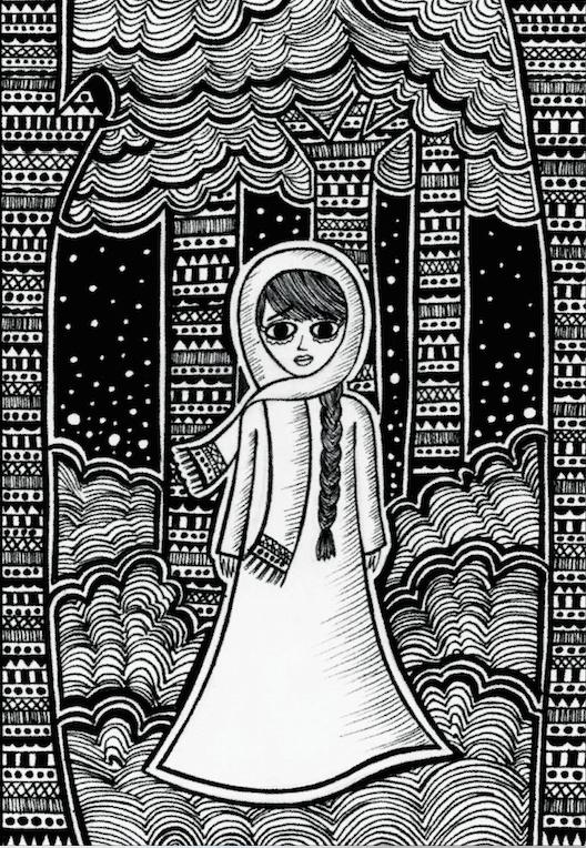 Original Drawing Done by the Local Artish Wafa' Salameh