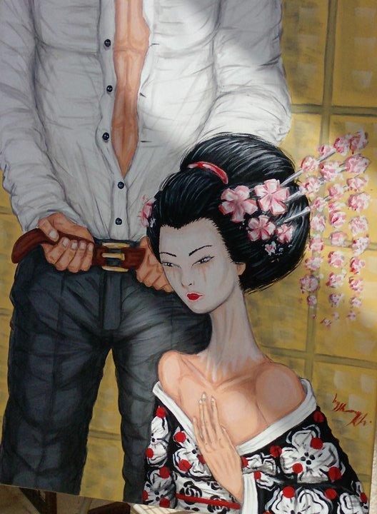 MIZUAGE  50*70cm-acrylic on canvas