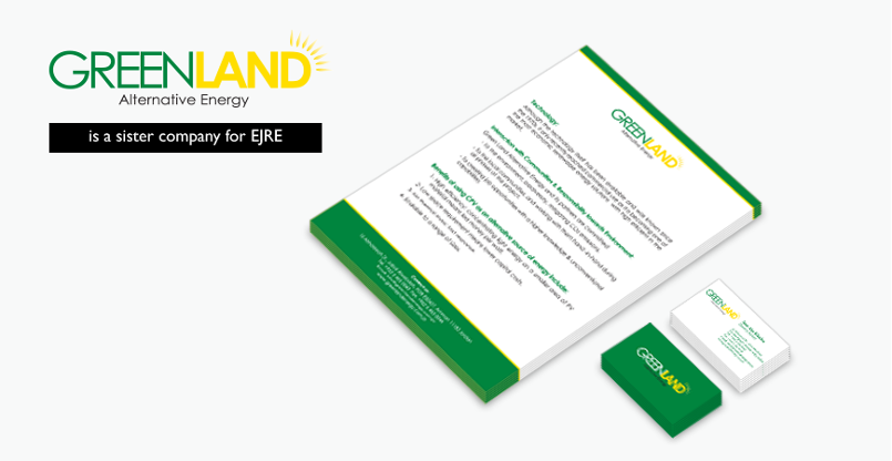 GreenLand (Sister Company for EJRE) LetterHead & Business Card