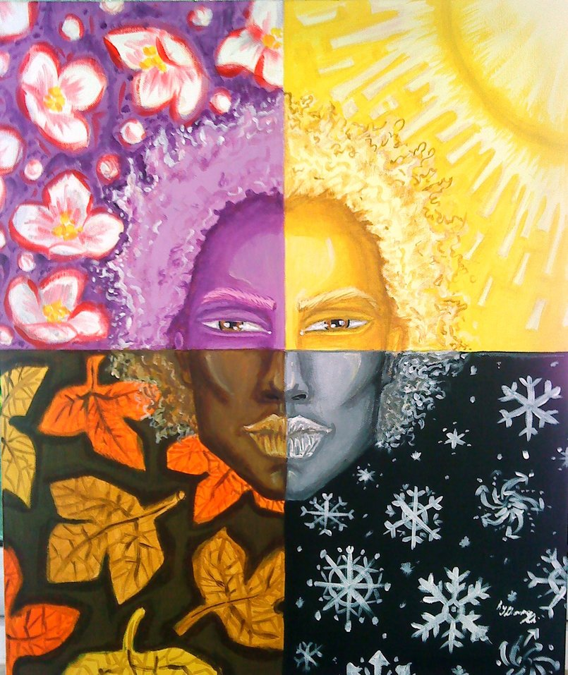 4SEASONS 50*60cm-acrylic on canvas