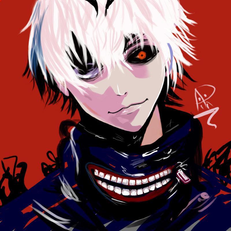kaneki from anime tokyo Ghoul