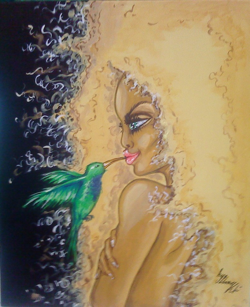 HUMMINGBIRD 50*60cm-acrylic on canvas