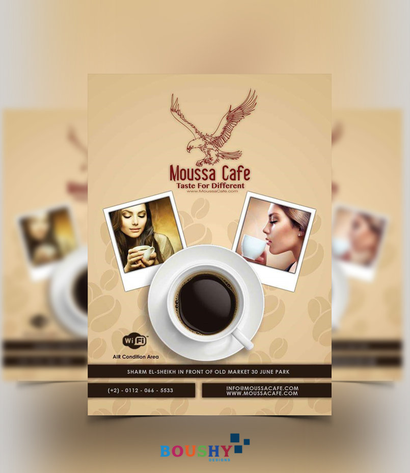 Moussa Cafe Flyer