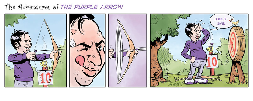 The Purple Arrow Comic Strip