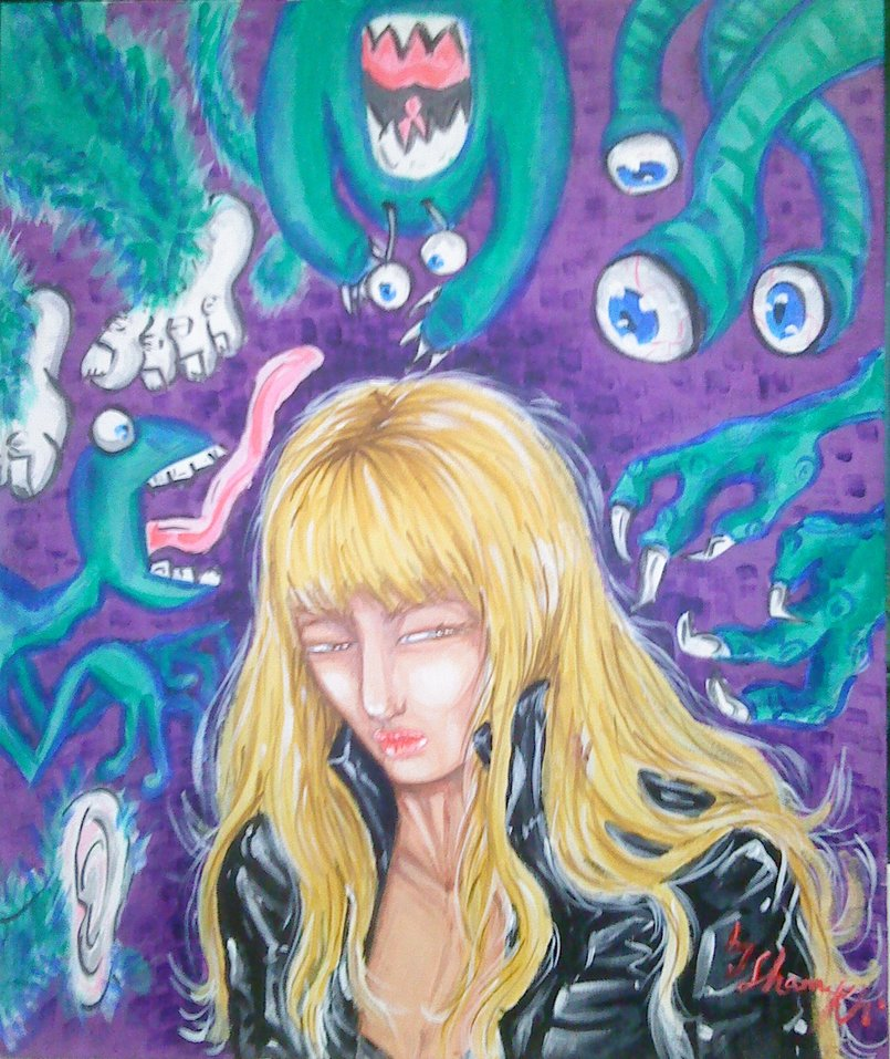 UR OWN DEMONS 50*60cm-acrylic on canvas