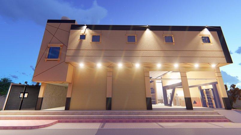 تصميم واجهة مبنى 3D