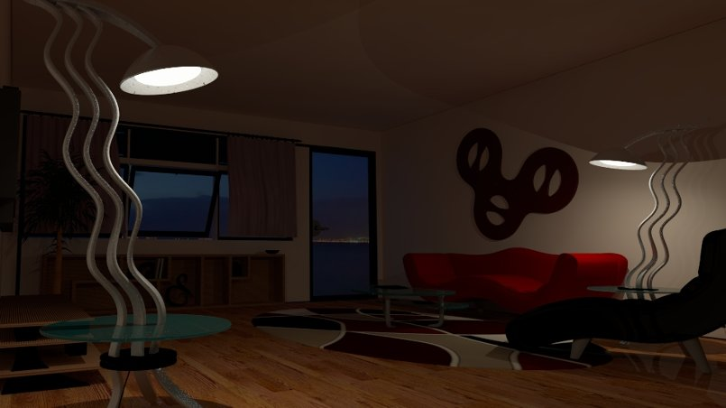 Living Room Night Scene