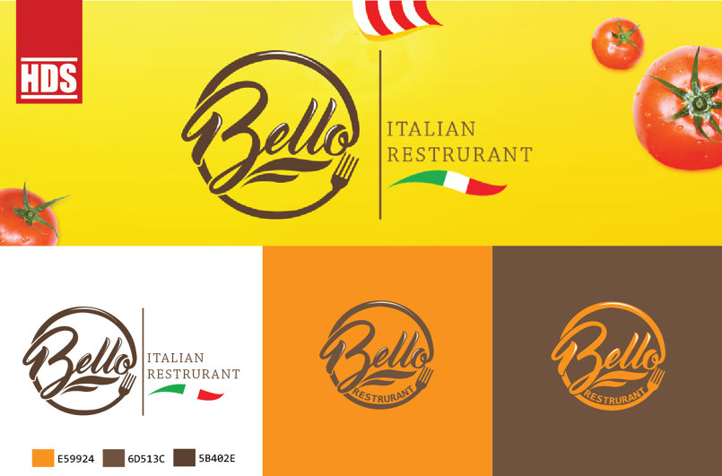 Bella italian restruant logog