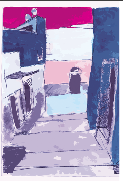 illustration of the streets if tetouan