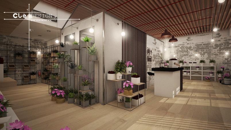 تصميم محل بيع زهور