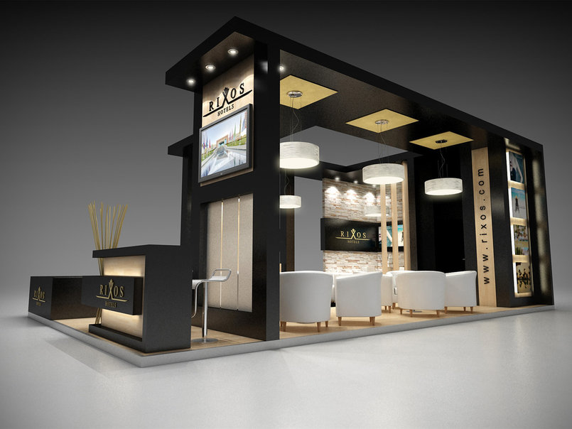 Exhibition Stand Design Proposal : Rixos hotel booth by amr eldesouky tasmeem me